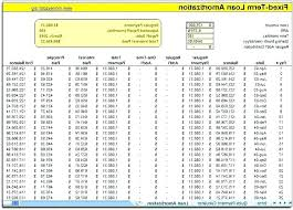 Prepayment Schedule Excel Template Downloadable Amortization Free ...