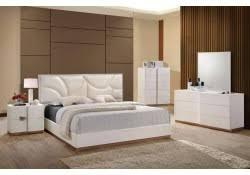 modern white bedroom furniture. Paris Modern White Bedroom Set By Global Furniture