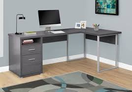 shaped computer desk office depot. Monarch Specialties L Shaped Computer Desk With 2 Drawers Gray By Office Depot \u0026 OfficeMax O