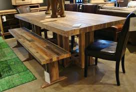 rustic wood dining table toronto