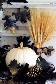 natural elements to decorate for Halloween