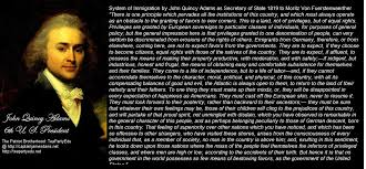 Immigration Quotes Amazing JOHN QUINCY ADAMS CONCERNING IMMIGRATION TO THE USA Foundation