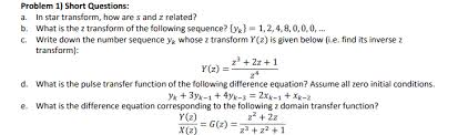 Star Questions Solved Problem 1 Short Questions A In Star Transform