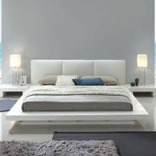 Details about Contemporary White Color Padded Headboard Bedroom Furniture Cal King Size Bed