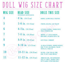 Wig Size Chart Doll Wigs Doll Hair Wigs