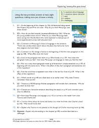 ks private peaceful by michael morpurgo teachit english  11 preview