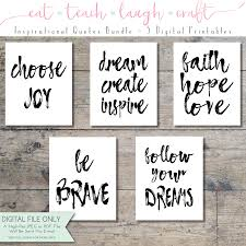 inspirational office decor. Inspirational Quotes Art Bundle \u2013 Set Of 5 Printables Wall Office Decor {Instant Digital Download 8×10 AND 11×14} R