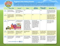 Feeding Chart For Babies On Solids Suggested Infant Feeding_schedule