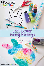 easy easter bunny painting activity for toddlers a great toddler activity for easter