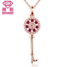 2019 <b>GEHOO</b> Rose Gold Chain Choker 925 Sterling Silver Women ...