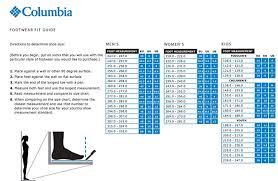 Columbia Size Chart Columbia Mens Hiking Shoes Ruckel Ridge Plus Waterproof