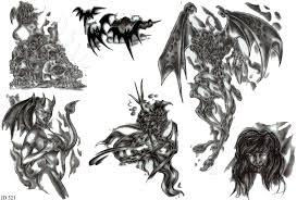 Motiv Tetování Peklo ďábel 393