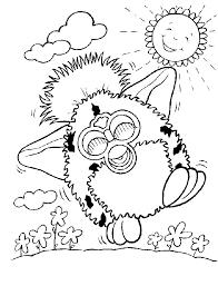 Kleurplaat Furby Animaatjesnl