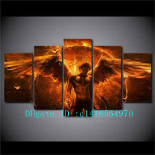2018 black magic flame angel canvas prints wall art oil painting home decor unframed framed from q1416564970 15 38 dhgate com