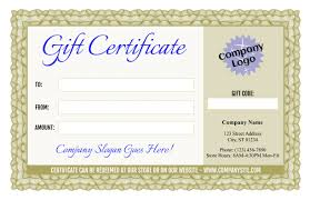 Formal Certificates Formal Gift Certificate Templates 3 And 4