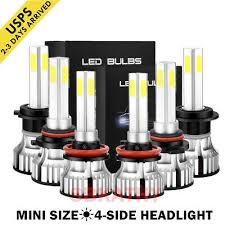 4-Side <b>9005</b>/9006/<b>H4</b>/<b>H7</b>/<b>H11</b>/H13 LED Headlight 2000W ...