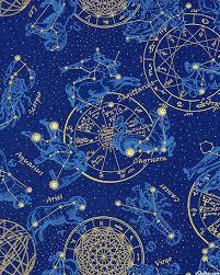 Star Chart Wallpaper Celestial Horoscope Star Chart Midnight Blue Gold In