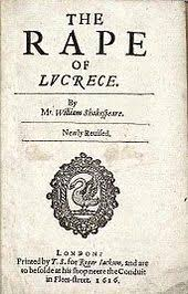 shakespeare authorship question  title page of the narrative poem the rape of lucrece mr prefixing shakespeare s