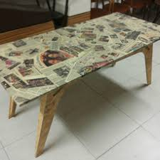 table recycled materials. Memories Table Made With Recycled Materials - 2 E