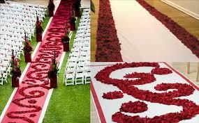 red petal aisle runner
