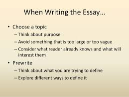 the definition essay 5 when writing the essay