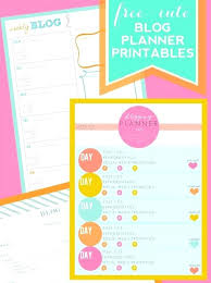 Template For Resume Word Free Cute Printable Blog Planners Filofax ...