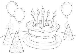 Coloring Pages Birthday Birthday Coloring Pages For Kids Birthday