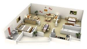 L Shaped Bedroom 50 3d Floor Plans Lay Out Designs For 2 Bedroom House Or Apartment