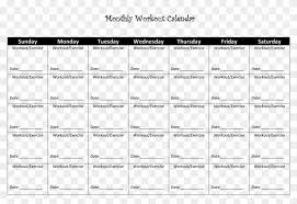 Workout Schedule Template Unique Monthly Workout Template