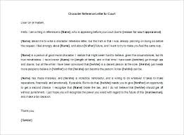 Character Letter Of Recommendation For Court - Kleo.beachfix.co