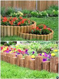 wooden garden edging ideas wood log garden edging creative garden bed edging ideas projects instructions timber wooden garden edging ideas