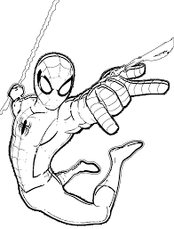 Small Picture Spider Man Web Drawing Coloring Coloring Pages