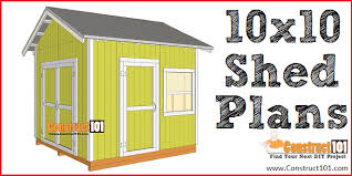 10x10 shed plans gable shed free pdf material list and detailed instructions