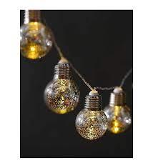 Led Lamba Gümüş Ampul Işık Çatlak Desen 10lu