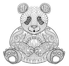 Small Picture Adult Coloring Pages Panda Adult Coloring Pages and Zentangled