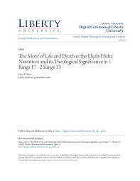The Motif Of Life And Death In The Elijah Elisha Pages 1