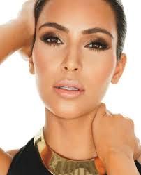 kim k bronze makeup