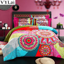 bohemian twin bedding queen king size organic cotton bohemian style colourful comforter sets duvet cover sets bohemian twin bedding skull bedding set