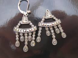 judith jack sterling silver vintage marcasite chandelier earrings