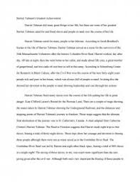 harriet tubman s greatest achievement essay zoom zoom
