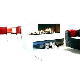 electric fireplace insert surround ideas design trim double sided idea two astounding