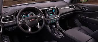 2018 gmc suv. fine gmc image of the front cabin in 2018 gmc acadia midsize suv inside gmc suv