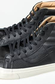 sk8 hi reissue trainers black porcini lux leather
