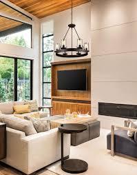 living room transitional chandelier