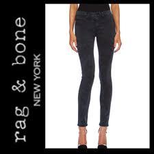Rag Bone Rosebowl Black Skinny Jeans