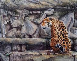 Lord Of The Night Sun By Nancy Rynes Art Jaguar Ancient Maya