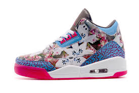 jordan shoes for girls pink and white. 2015 air jordan 3 gs school season brown blue pink shoes-2 shoes for girls and white
