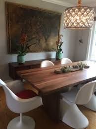 dining area i live in a house looks stunning with my mid century tulip chairs and pantone