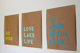 diy lake inspired wall art on wall art letter stencils with alice and loisdiy stencil wall art