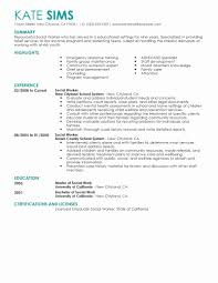 Work Resume Template Social Work Resume Template Beautiful Best Social Worker Resume 20